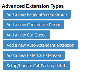 advanced extension types VoIP